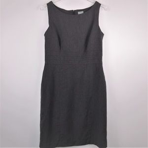H&M Sheath Dress Gray Sleeveless Classic